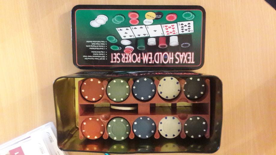 149 Teksas Holdem Poker Zetoni Za Kartanje 198kom Drustvene Igre