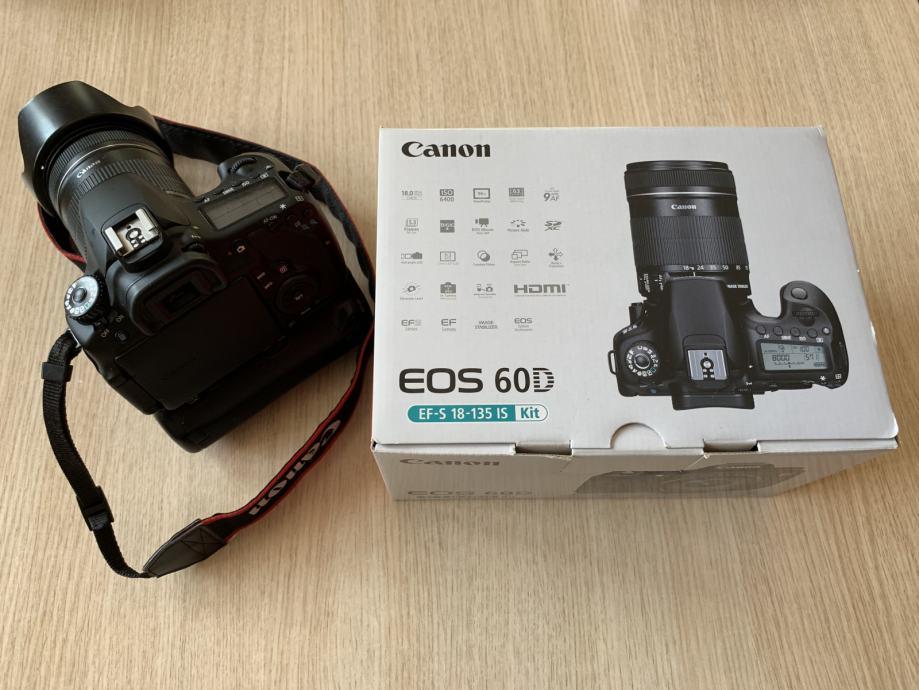Canon EOS 60D s objektivom EF-S 18-135 IS+battery grip, samo 4700 kn