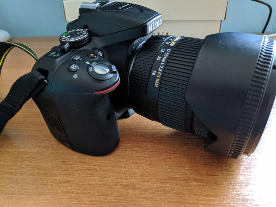 Nikon D5300 + kompletna foto oprema (Sigma 17-50...), nije fiksno