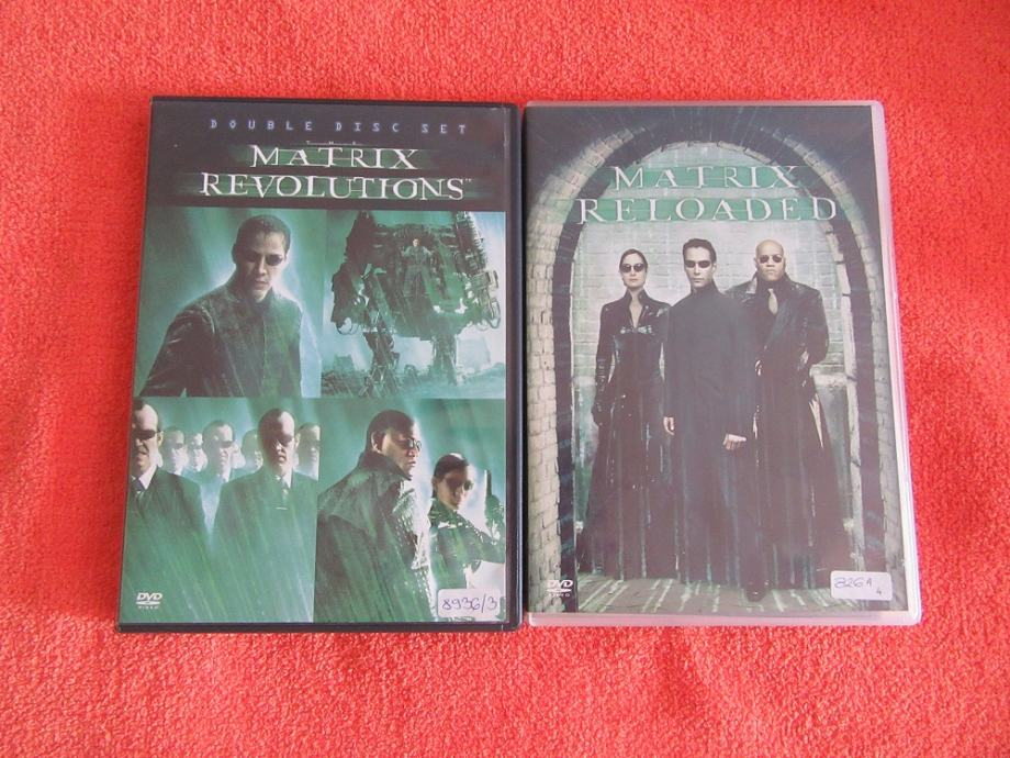 Dvd filmovi Matrix revolutions i Matrix reloaded lot 20 kn