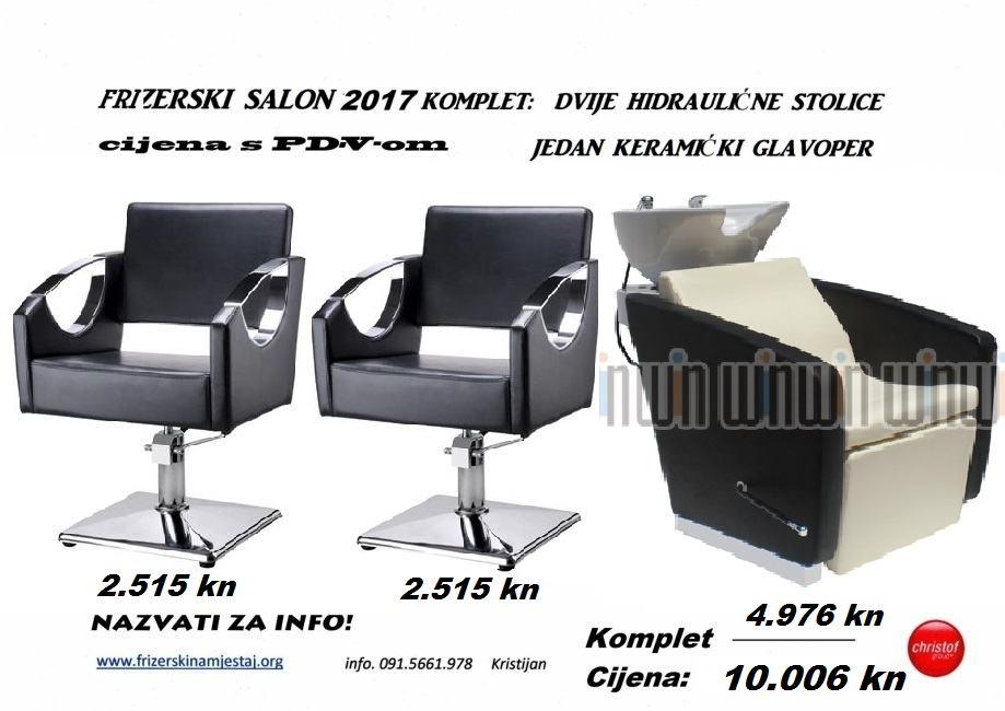 Frizerska oprema set stolice i glavoper