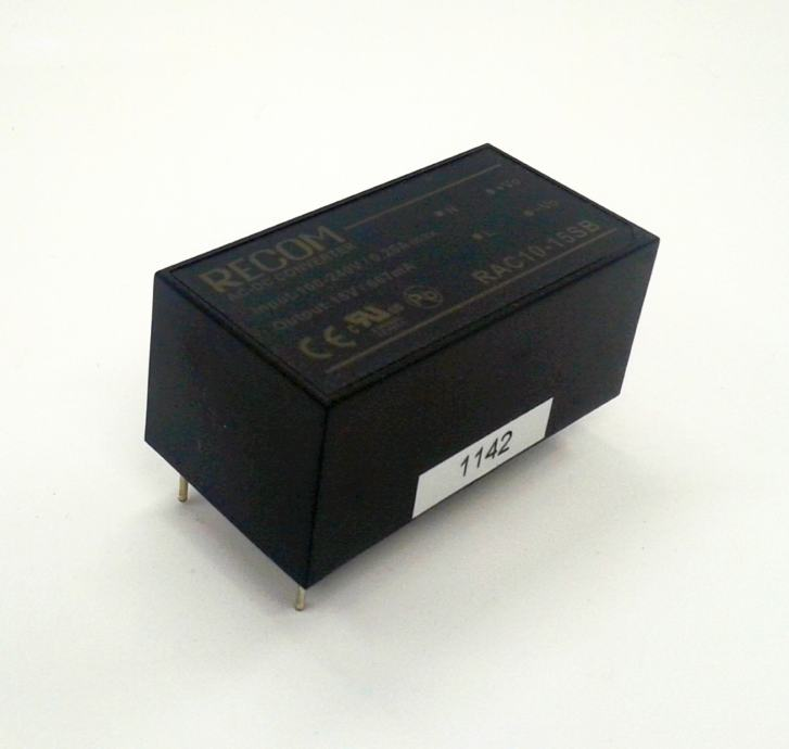 AC/DC konverter 10W 15V 0,667A