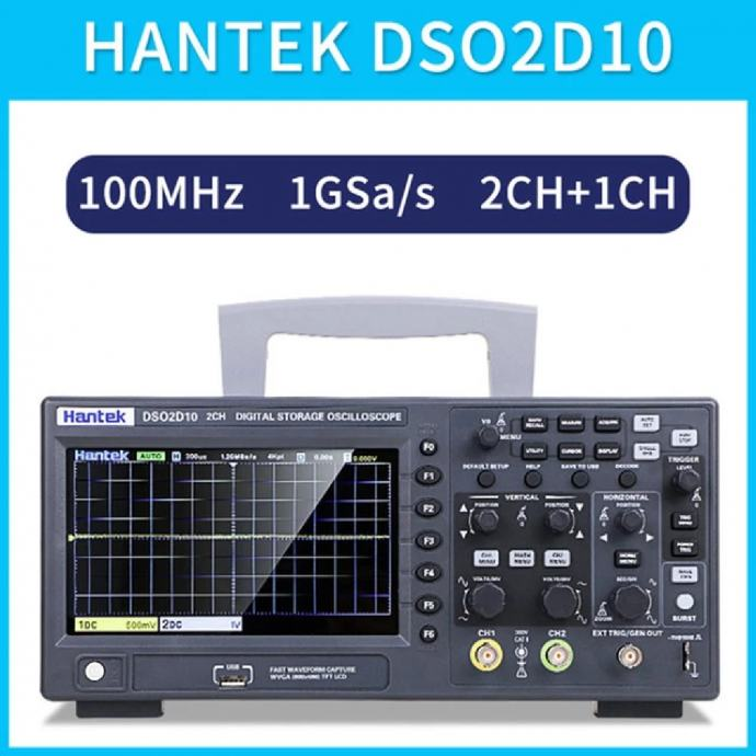 Digitalni osciloskop Hantek DSO2D10, 2 kan, 100 MHz, signal generator