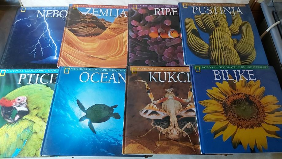 National Geographic - Knjige o prirodi - komplet 8 knjiga(DKK1)
