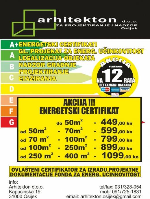 ENERGETSKI CERTIFIKAT OD 449KN,OSIJEK SL.BROD POŽEGA VINKOVCI NAŠICE