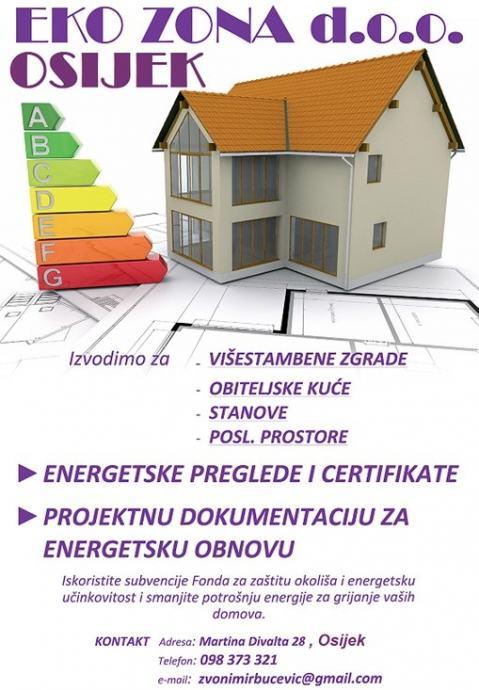 ENERGETSKI CERTIFIKATI od 420 kn Osječko-baranjska županija i šire