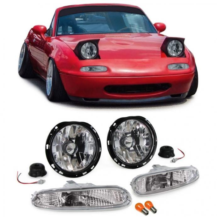 Mazda MX5 NA 1990-1998 farovi svjetla lampe desni + lijevi chrome