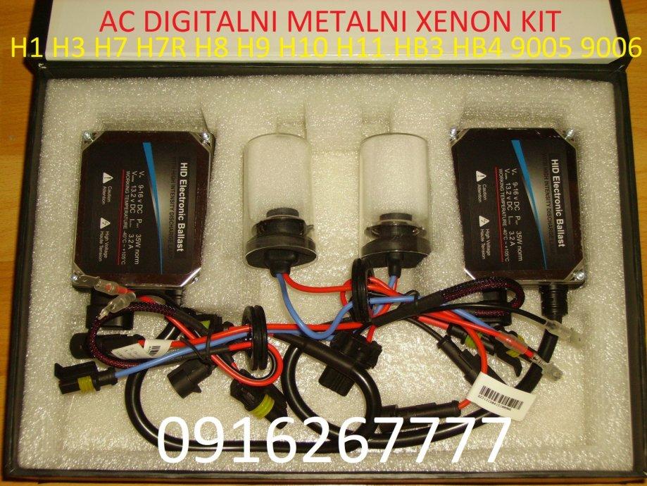 AC DIGITALNI XENON HID KIT SET H1 H3 H7 H7R H7C H8 H9 H10 H11 HB3 HB4