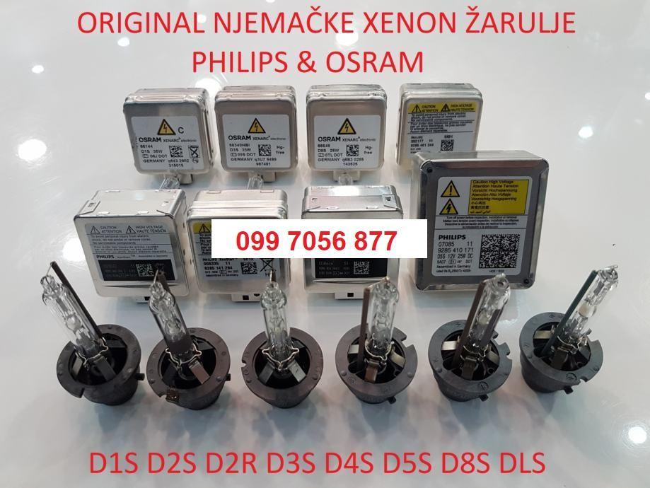 ORGINAL PHILIPS I OSRAM D1S D2S D2R D3S D4S D5S D8S DLS XENON  ŽARULJE