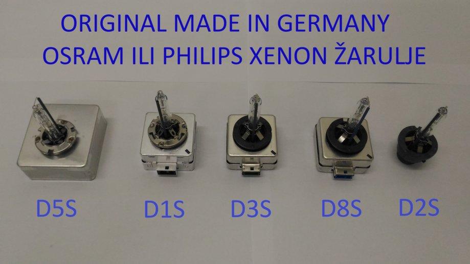 P: Original Osram / Philips D1S D2S D5S D3S D8S Xenon žarulje