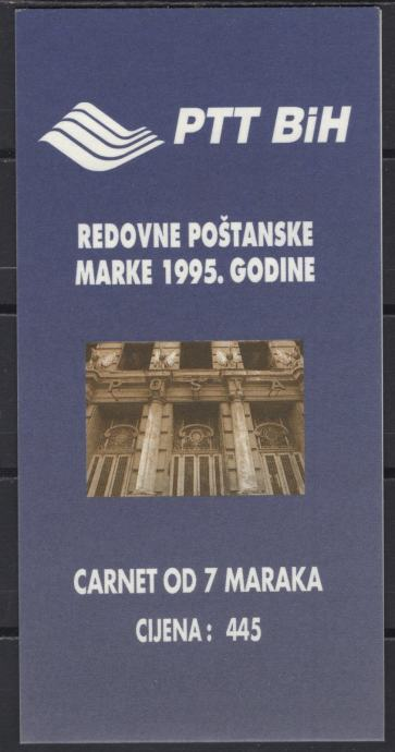 BiH - Karnet - Pošta - Mi 13~19 - 1995 - MNH