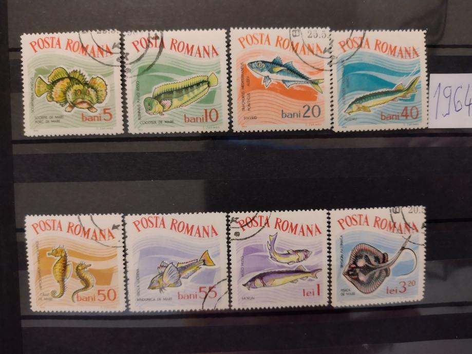 Poštanske marke Rumunjske, serija faune (1964)