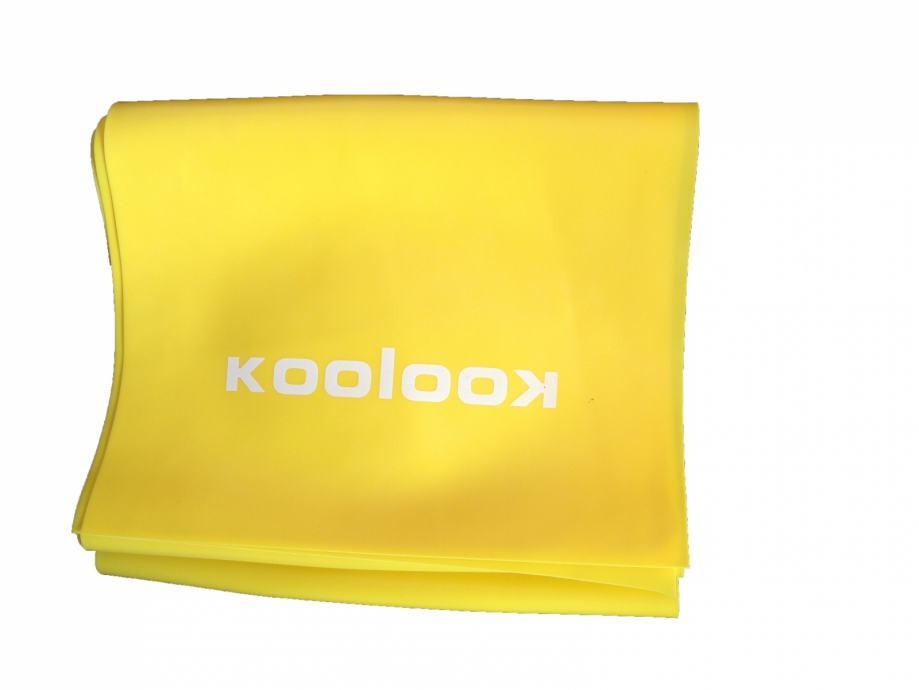 """Elastična traka za jogu, pilates i rehabilitaciju """"KOOLOOK"""" 120 cm"""