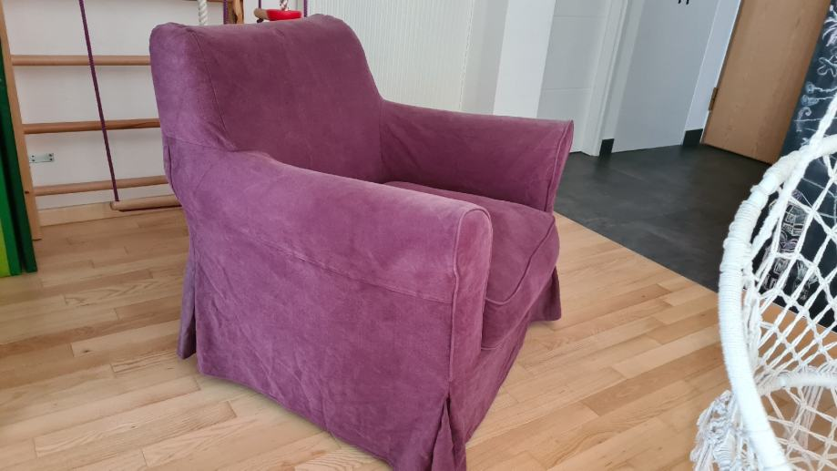 fotelja za dnevni boravak ljubičasta