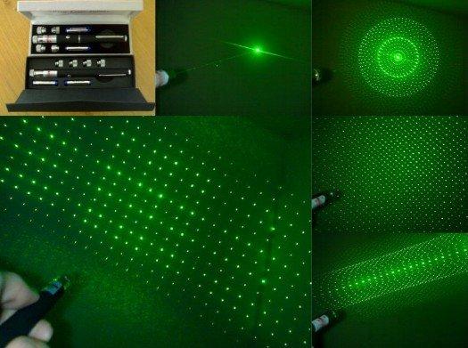 Laser superjaki, zelena i crvena zraka, punjiva baterija, kljuc,stativ