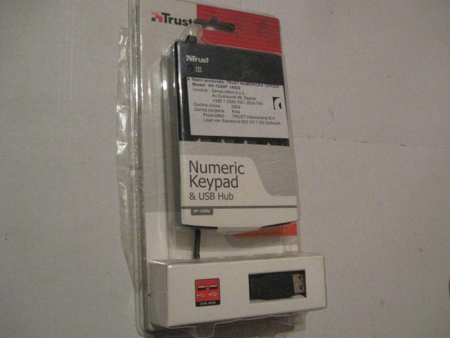 Trust numerička tipkovnica i usb hub