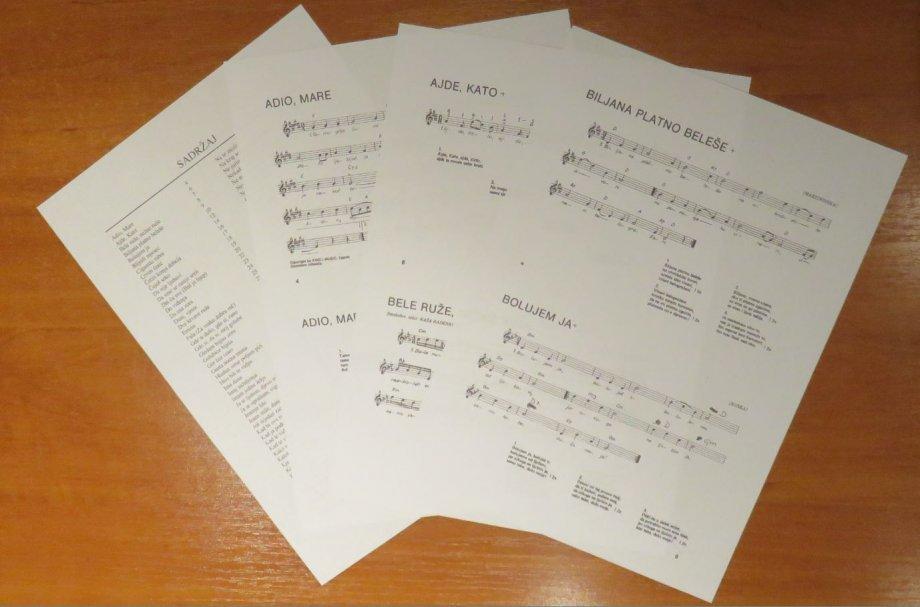 Note za klavijature - STAROGRADSKE PJESME - pjesmarica - 101 pjesma