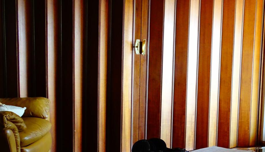 dvokrilna harmonika vrata, drvo (mahagonij) 260 dužina, 245visina