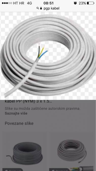 Pgp kabel 3x2.5 (500)3x1.5'(500)