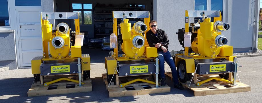 Pumpa za vodu muljna ATLAS COPCO zagrađevinarstvo