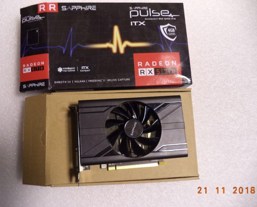 SAPPHIRE Radeon RX 570 PULSE ITX 4GB GDDR5 256-bit - garancija