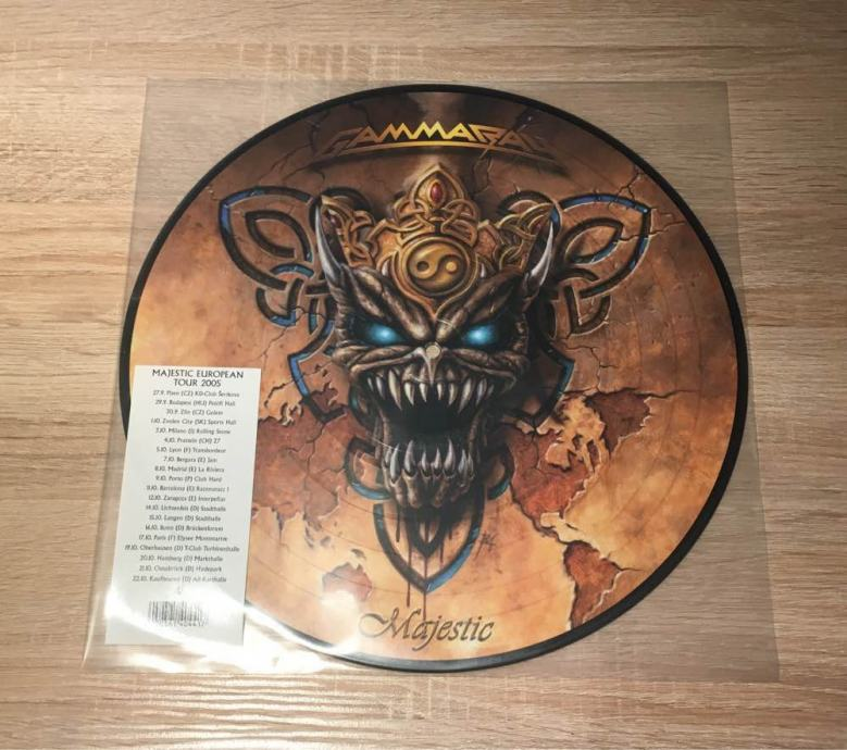 Gamma Ray - Majestic, Picture Disk Vinyl