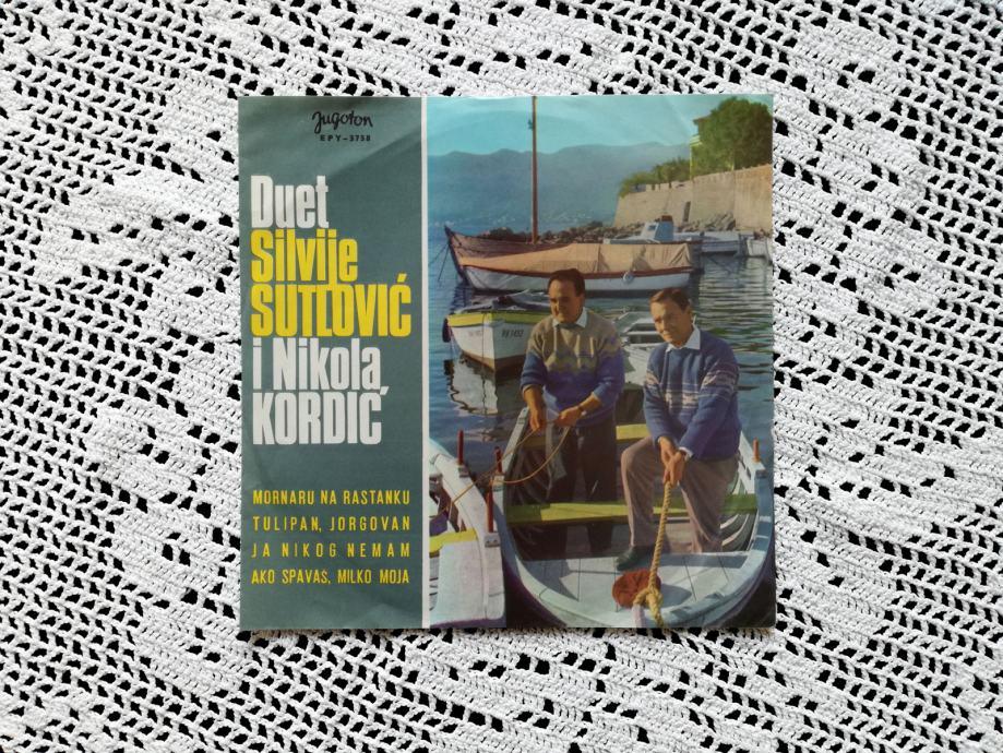 """S. Sutlović i N. Kordić - Dalmatinske Narodne Pjesme (7"""", Single, EP)"""