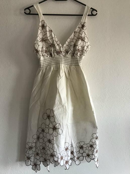 Bijela haljina sa cvjetovima S