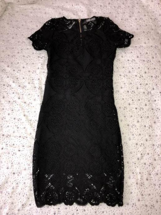 Crna Cipkasta Haljina Za Svecane Prilike