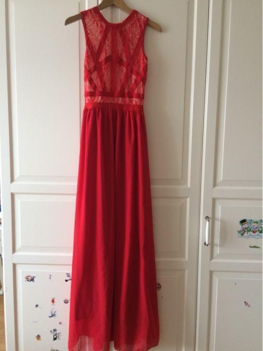 Crvena Haljina Divna Haljina Savrsena Za Svadbu Nova Nikad Nosena