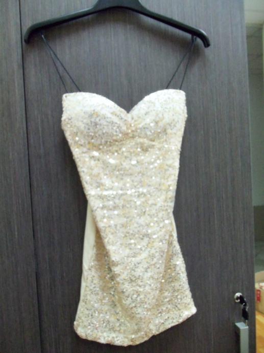 Svečana kratka bež haljina br. 40