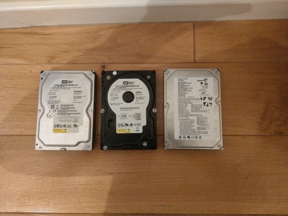 3 HARD DISKA 160GB 80GB 40GB