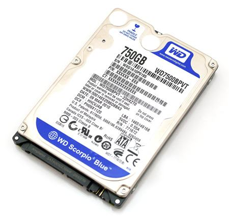 "HDD WD 2.5"" 750GB SATA WD7500BPVT Blue interni hard disk 