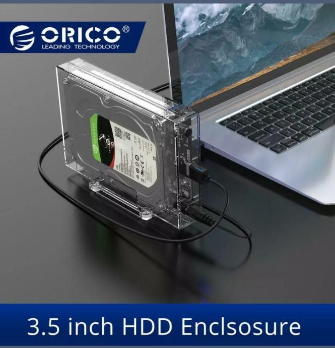 ORICO EXT HDD VANJSKO KUĆIŠTE 3.5 inch USB3.0 S NOSAČEM - VAKUMIRANO