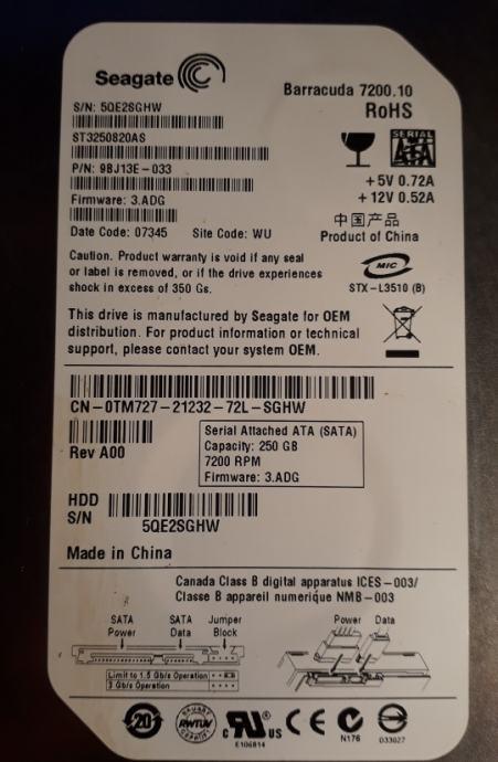 Seagate barracuda  7200.10 250GB