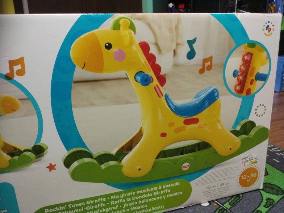 Raffa La Dondolo Giraffa.Zirafa Njihalica Fisher Price