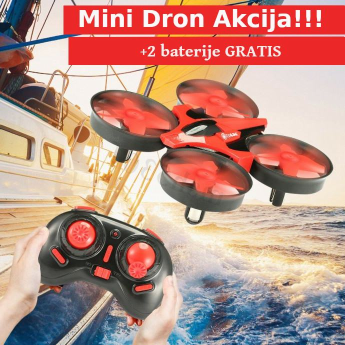 AKCIJA NOVO !!! Mini Dron 2.4G ,4 kanala,6 smjera letenja i 3 Baterije