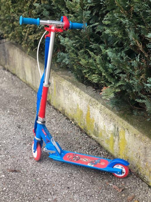 Romobil Oxelo s kočnicom- plavo crveni