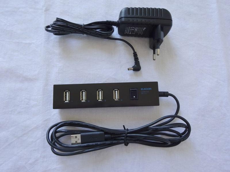 Elecom 4-Port Powered Mobile Hub (USB hub sa napajanjem 5V/2A)
