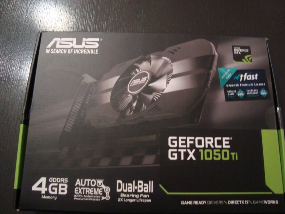 Grafička Nividia GTX 1050 Ti, 4GB GDDR5, PH-GTX1050TI-4G - PROMO