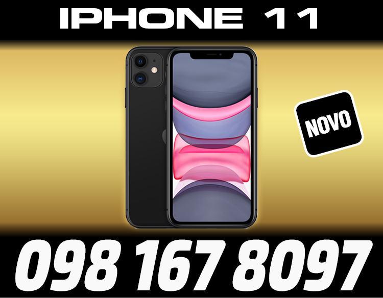 IPHONE 11 64GB CRNE BOJE,ZAPAKIRANO,TRGOVINA,DOSTAVA ZG,R1