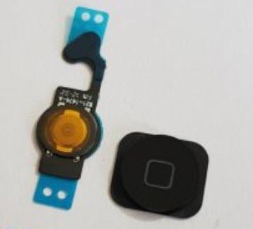 iphone 5 home tipka kompletna (crna boja) home button iphone 5 flat