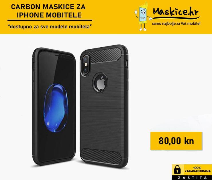 ► Silikonske Carbon maskice za iPhone mobitele ◄