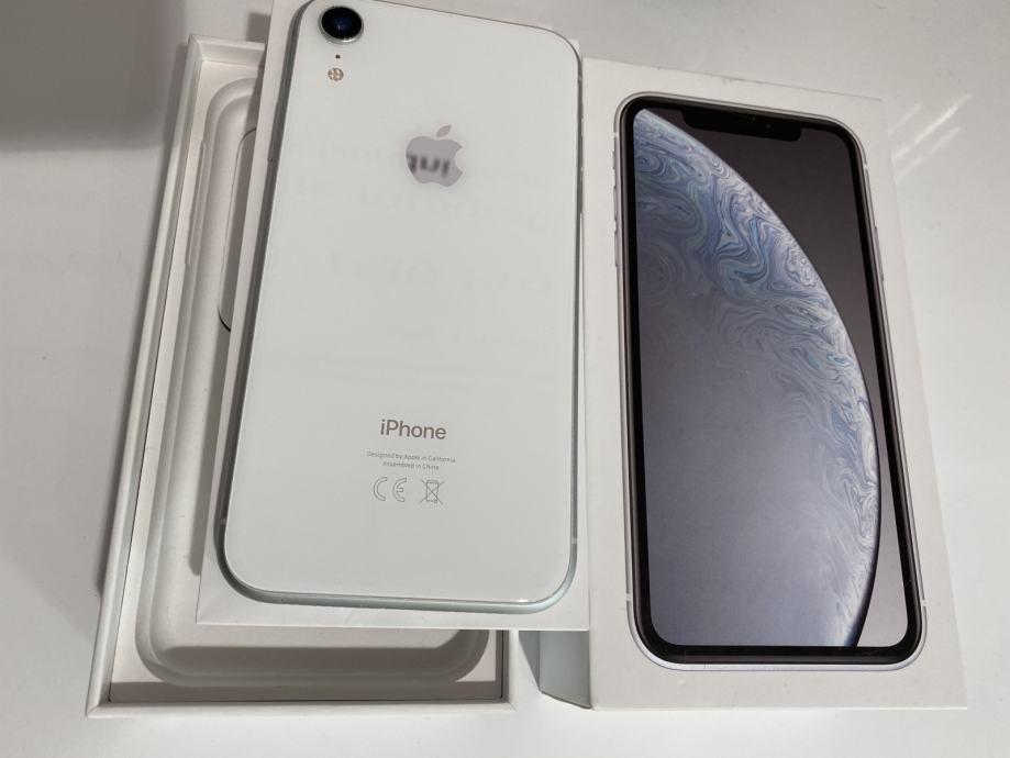APPLE IPHONE XR 64GB WHITE, Odlicno stanje, Racun, Jamstvo, Trgovina