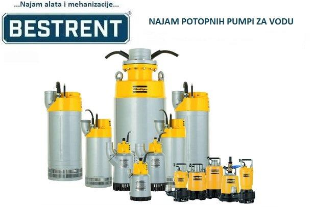 Najam (iznajmljivanje) pumpe za vodu