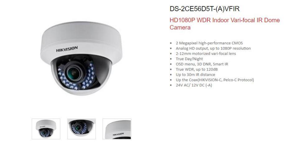 Hikvision Turbo HD zoom kamere - dva komada NOVO