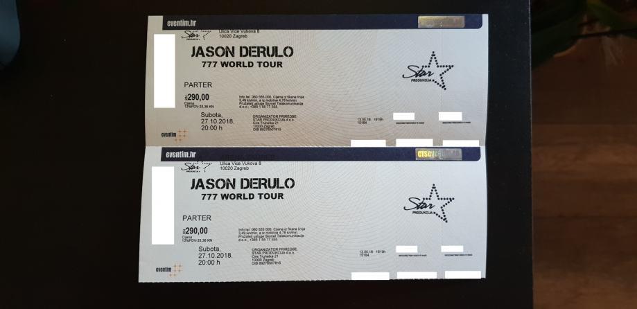 Jason Derulo Arena Zagreb - PARTER