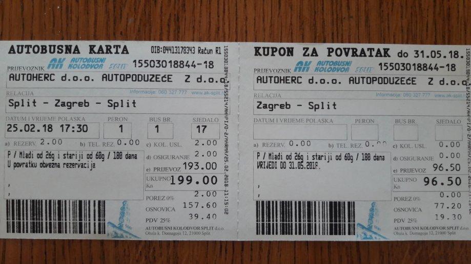 Autobusna Karta Autoherc D O O Zg Gt St