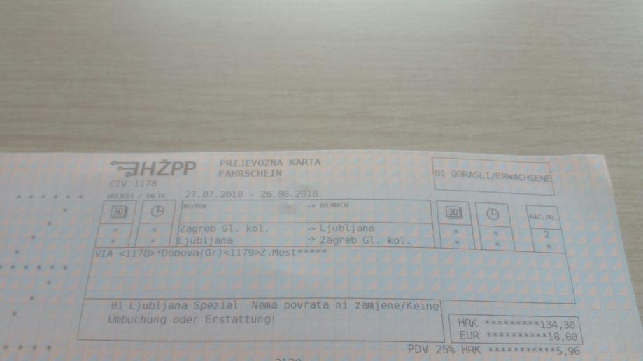 Povratna Karta Vlakom Zagreb Ljubljana Samo 100kn