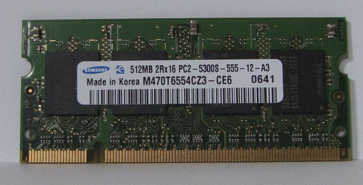Samsung 1GB DDR2-667 PC2-5300 Laptop Notebook SODIMM Memory RAM 200-pi